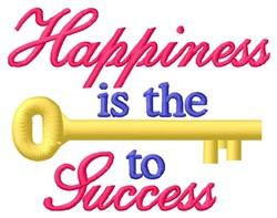 Happiness Key embroidery design