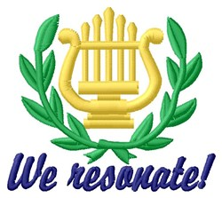 We Resonate embroidery design