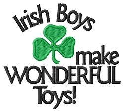 Irish Toys embroidery design