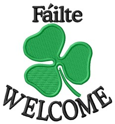 Failte Welcome embroidery design