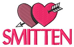 Smitten embroidery design