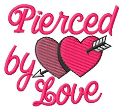 Love Pierced embroidery design