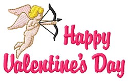 Happy Valentines embroidery design