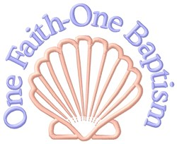 One Faith embroidery design
