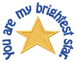 Brightest Star embroidery design