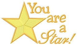 You Are Star embroidery design
