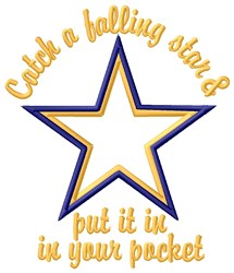 Falling Star embroidery design