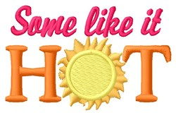 Like It Hot embroidery design