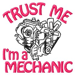 A Mechanic embroidery design