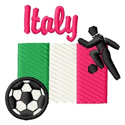 Italy Soccer embroidery design