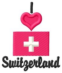 Love Switzerland embroidery design