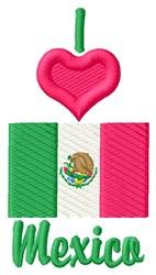 Love Mexico embroidery design