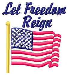 Freedom Ring embroidery design