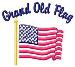 Grand Old Flag embroidery design