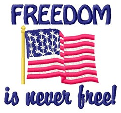 Freedom embroidery design