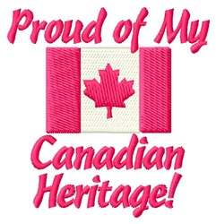 Canadian Heritage embroidery design