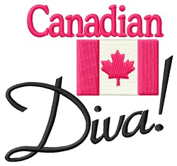 Canadian Diva embroidery design