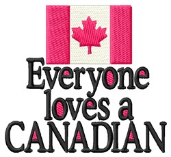 Love Canadian embroidery design