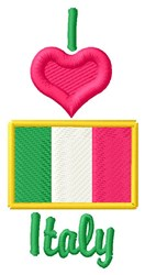 Love Italy embroidery design