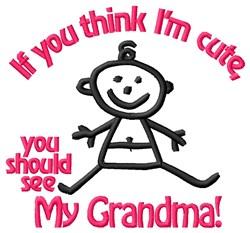 Cute Grandma embroidery design