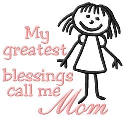Call Me Mom embroidery design