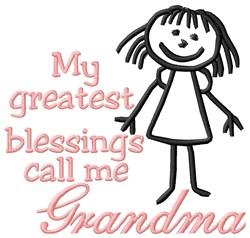 Call Me Grandma embroidery design