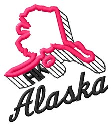Alaska embroidery design