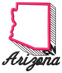 Arizona embroidery design