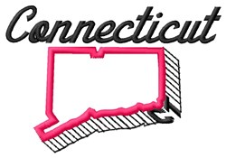 Connecticut embroidery design