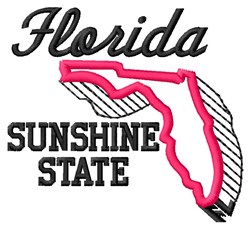 Sunshine State embroidery design