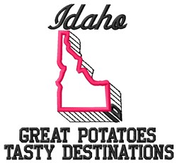 Great Potatoes embroidery design