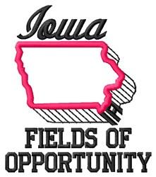 Iowa Fields embroidery design