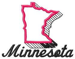 Minnesota embroidery design