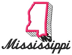 Mississippi embroidery design