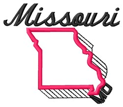 Missouri embroidery design