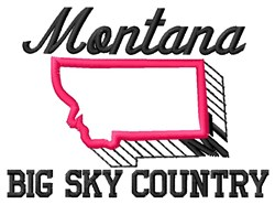 Big Sky Country embroidery design