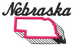 Nebraska embroidery design
