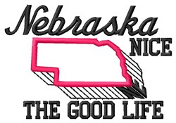 Nice Nebraska embroidery design