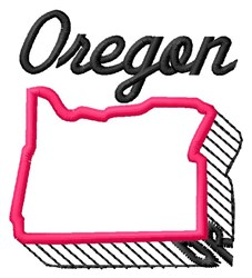 Oregon embroidery design