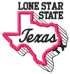 Lone Star embroidery design