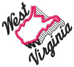 West Virginia embroidery design