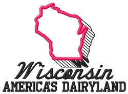 Americas Dairyland embroidery design