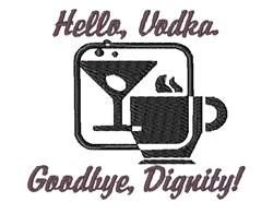 Hello Vodka embroidery design