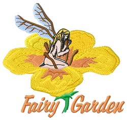 Fairy Garden embroidery design