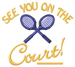 On The Court embroidery design
