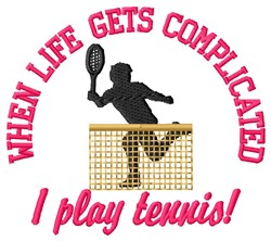 I Play Tennis embroidery design