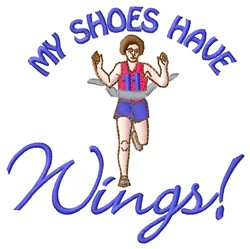 Shoes Have Wings embroidery design