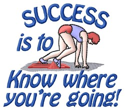 Success Is embroidery design