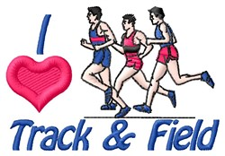 Love Track embroidery design