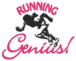 Running Genius embroidery design